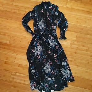 Nanette Lepore blue elegant dress cinched waist 4